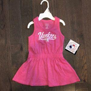 NY Yankees Toddler Dress